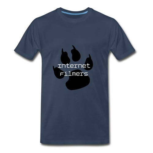 Dog Paw Internet Filmers Dark Blue - Men's Premium T-Shirt