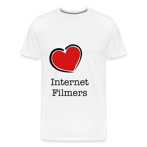 love heart internetfilmers white - Men's Premium T-Shirt
