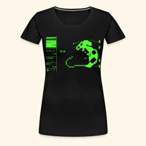 PETtype Screen (neon) - Women's Premium T-Shirt