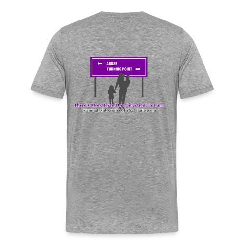 Men's Turning Point Gray Tee - Men's Premium T-Shirt