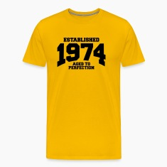 aged to perfection established 1974 T-Shirts