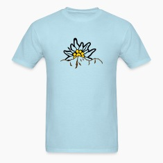 Mountain with edelweiss T-Shirts