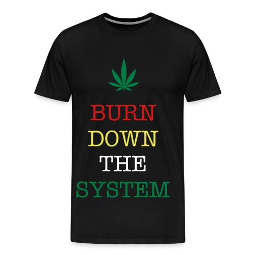 burn down the system - Men's Premium T-Shirt