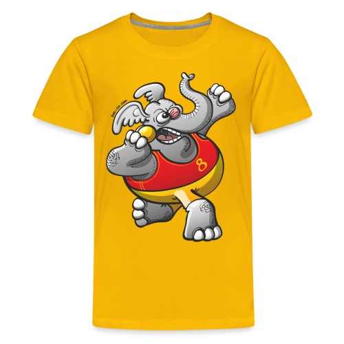 Olympic Shot Put Elephant - Kids' Premium T-Shirt