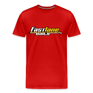 T-Shirts ~ Men's Premium T-Shirt ~ Fast Lane Daily logo in three colors on a Heavyweight T