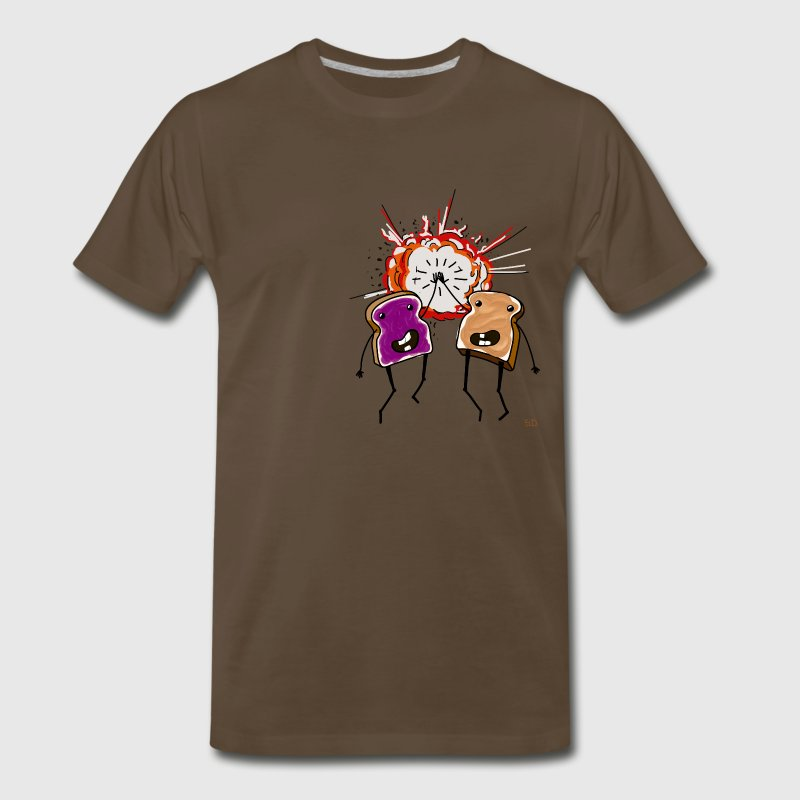 PB and J High Five T-Shirts - Men's Premium T-Shirt