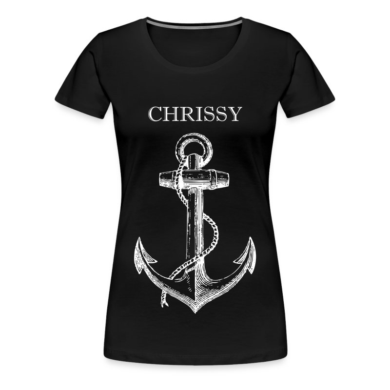 Anchor Classic T-Shirt (Black) - Women's Premium T-Shirt