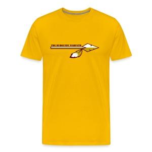 Customizable Burgundy Warpath Tee - Men's Premium T-Shirt