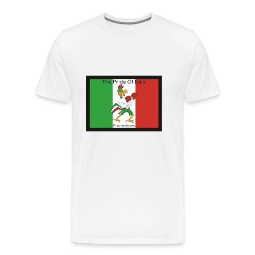White Pride Of Italy - Men's Premium T-Shirt