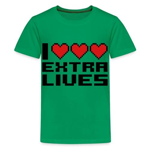 Kids I Love Extra Lives T-Shirt - Kids' Premium T-Shirt