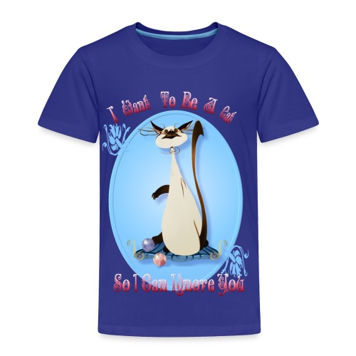 I Want To Be A Cat - Oval - Toddler Premium T-Shirt