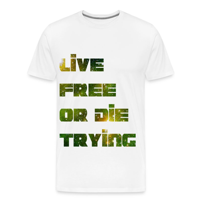 Live Free HD Design - Men's Premium T-Shirt