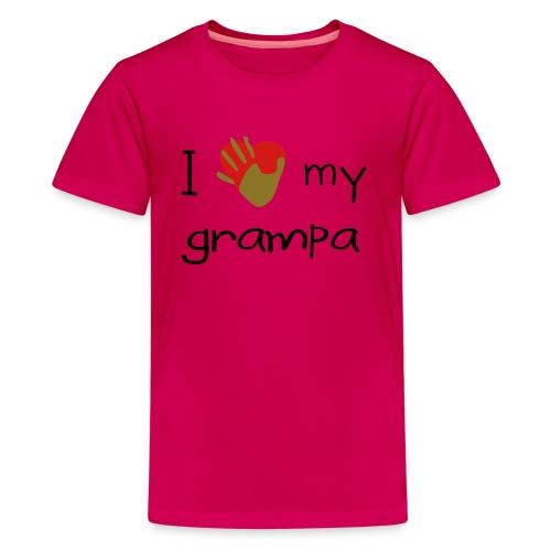I Love My Grandpa Pink - Kids' Premium T-Shirt