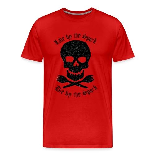 Live by the spork - Men's Premium T-Shirt