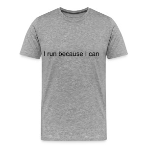why i run - Men's Premium T-Shirt