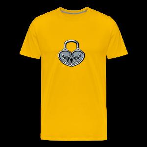 Pop My Lock 3D-Silver - Men's Premium T-Shirt