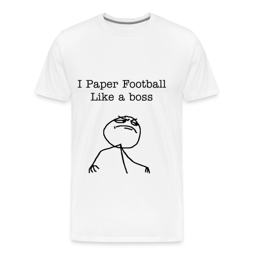 Paper Football HARDCORE - Men's Premium T-Shirt