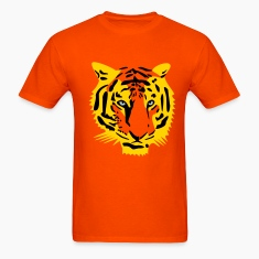 tiger head half - 3 color T-Shirts