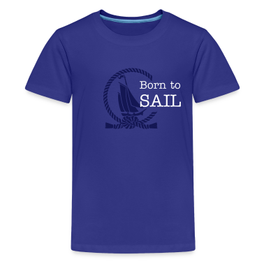 sailboat in an open rope circle (b, 1c) Kids' Shirts