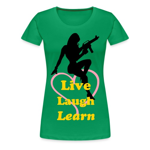 Womens Live Laugh Learn - Women's Premium T-Shirt