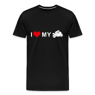 T-Shirts ~ Men's Premium T-Shirt ~ I LOVE MY MOTORCYCLE - Racing