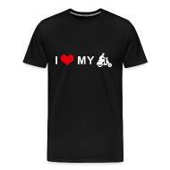 T-Shirts ~ Men's Premium T-Shirt ~ I LOVE MY MOTORCYCLE - Scooter