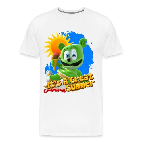 Gummibär (The Gummy Bear) It's A Great Summer Men's 3XL and 4XL T-Shirt - Men's Premium T-Shirt
