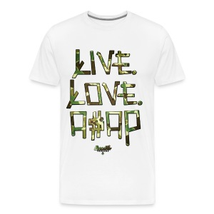 LIVE LOVE A$AP - CAMO - Men's Premium T-Shirt