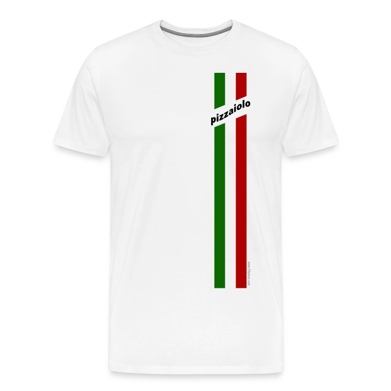 Italian racing Tshirt - for pizza maker - Italian Stripes Pizzaiolo - 3x - Men's Premium T-Shirt