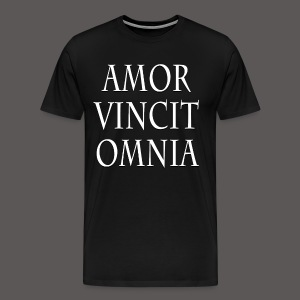 LOVE CONQUERS ALL(LATIN) - Men's Premium T-Shirt