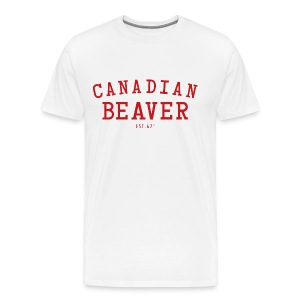 Canadian Beaver 67 W Heavyweight T-Shirt - Men's Premium T-Shirt