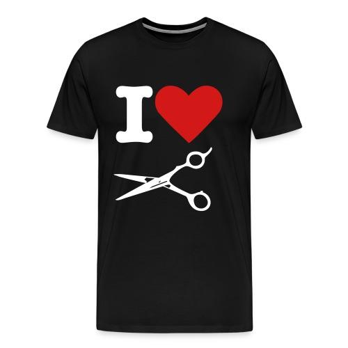 I Love Cutting - Mens - Men's Premium T-Shirt