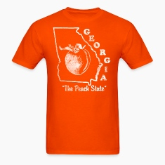 Georgia The Peach State Mens vintage T shirt