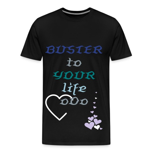 T-shirt BLACK BusterToYourLife 2 (with back, right and left decorations) - Men's Premium T-Shirt