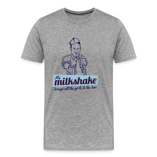 My Milkshake brings all the girls to the bar   Orange M. Co. - Men's Premium T-Shirt