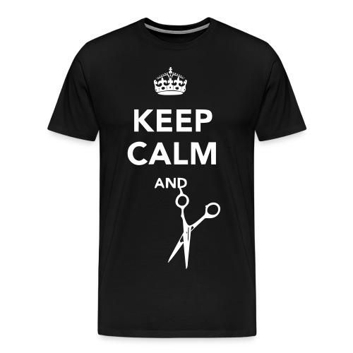 Keep Calm and CUT - Mens - Men's Premium T-Shirt