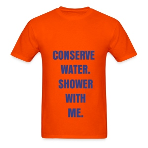 CONSERVE WATER - ROYAL BLUE/FLEX/ANZEIGEN FONT - Men's T-Shirt