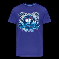 T-Shirts ~ Men's Premium T-Shirt ~ Alphacat Men's 3XL/4XL Tee - Royal Blue