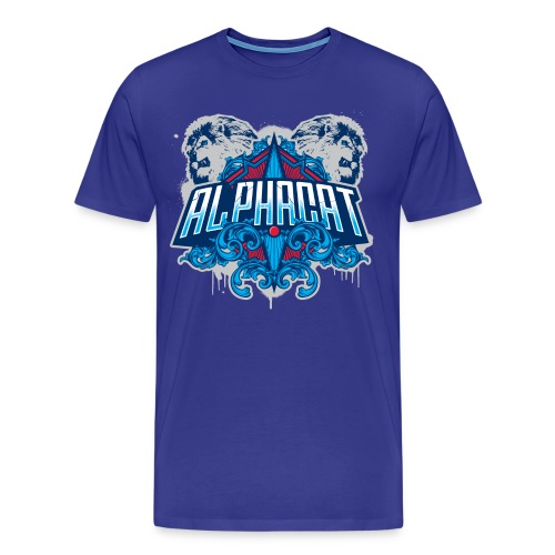 Alphacat Men's 3XL/4XL Tee - Royal Blue - Men's Premium T-Shirt