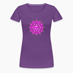 LOTUS OF THE HEART - Heart chakra - Anahata, c, Centre of love and compassion, powerful symbol Women's T-Shirts