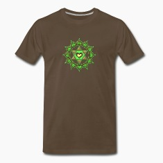 LOTUS OF THE HEART - Heart chakra - Anahata, green, Centre of love and compassion, powerful symbol T-Shirts
