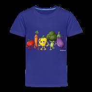 Baby & Toddler Shirts ~ Toddler Premium T-Shirt ~ Toddler Veggie Rainbow T-Shirt