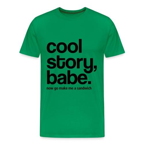 cool story,make me a sandwich - Men's Premium T-Shirt