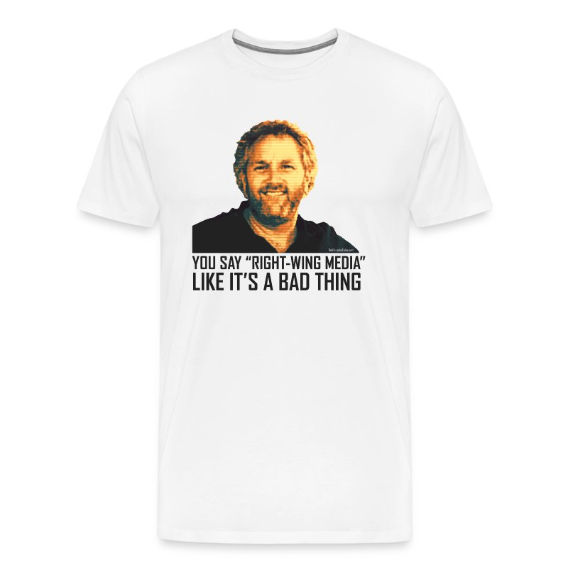 Breitbart Smiles: Right-Wing Media - Men's Premium T-Shirt