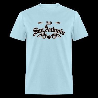San antonio 210 heavyweight t shirt t shirt spreadshirt for Screen print shirts san antonio