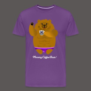 MORNING COFFEE BEAR! - Men's Premium T-Shirt