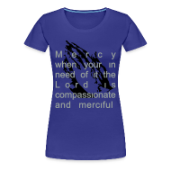 Women's T-Shirts ~ Women's Premium T-Shirt ~ Mercy from the Lord