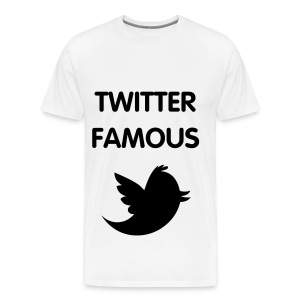 TWITTER FAMOUS - BLACK FLEX/VAG ROUNDED FONT/BLACK BIRD - Men's Premium T-Shirt