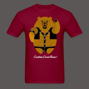 LEATHER LOVIN BEAR! - Men's T-Shirt