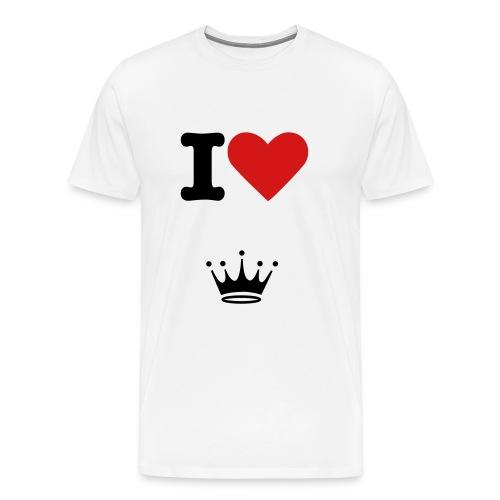 I Love Queen - Men's Premium T-Shirt